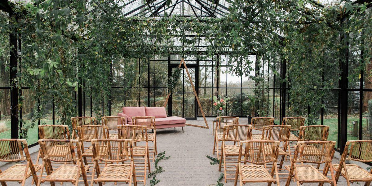 trouwen in een kas _ weddingplanner _ bruiloftstylist _ omgeving utrecht