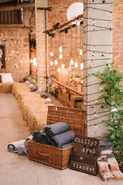 Winter bruiloft decoratie